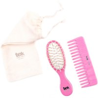 TEK Pink purse oval brush and comb