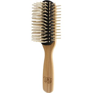 Big disassembled brush with long wooden pins